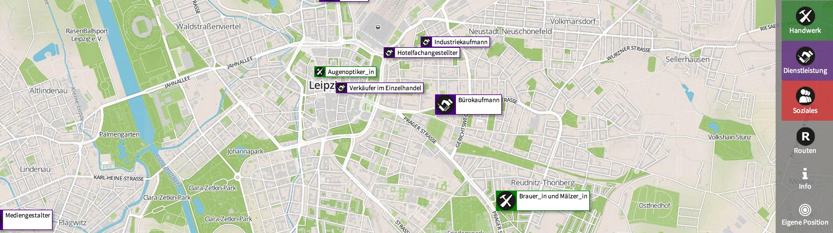 Berufsrouten Leipzig starten zu den Berufsweltmeisterschaften