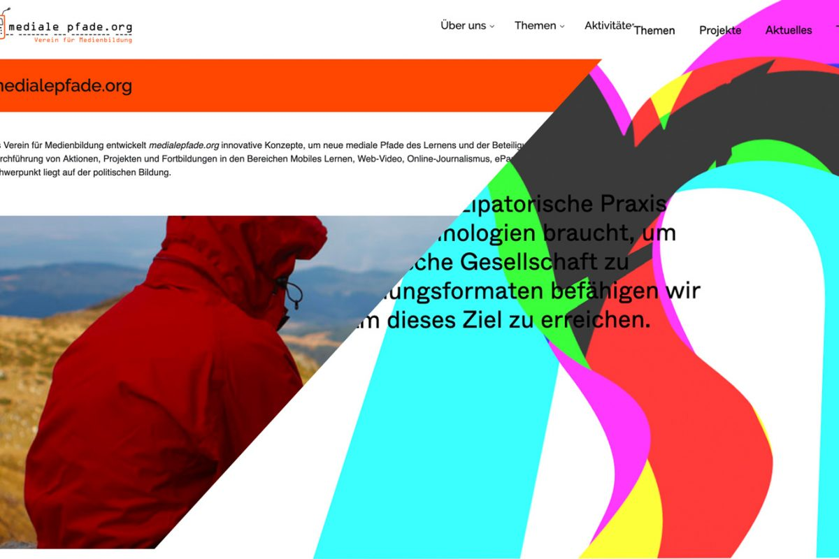 mediale pfade - alte und neue Website